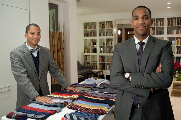 Tie Society co-founders Zac Gittens and Otis Collins.
