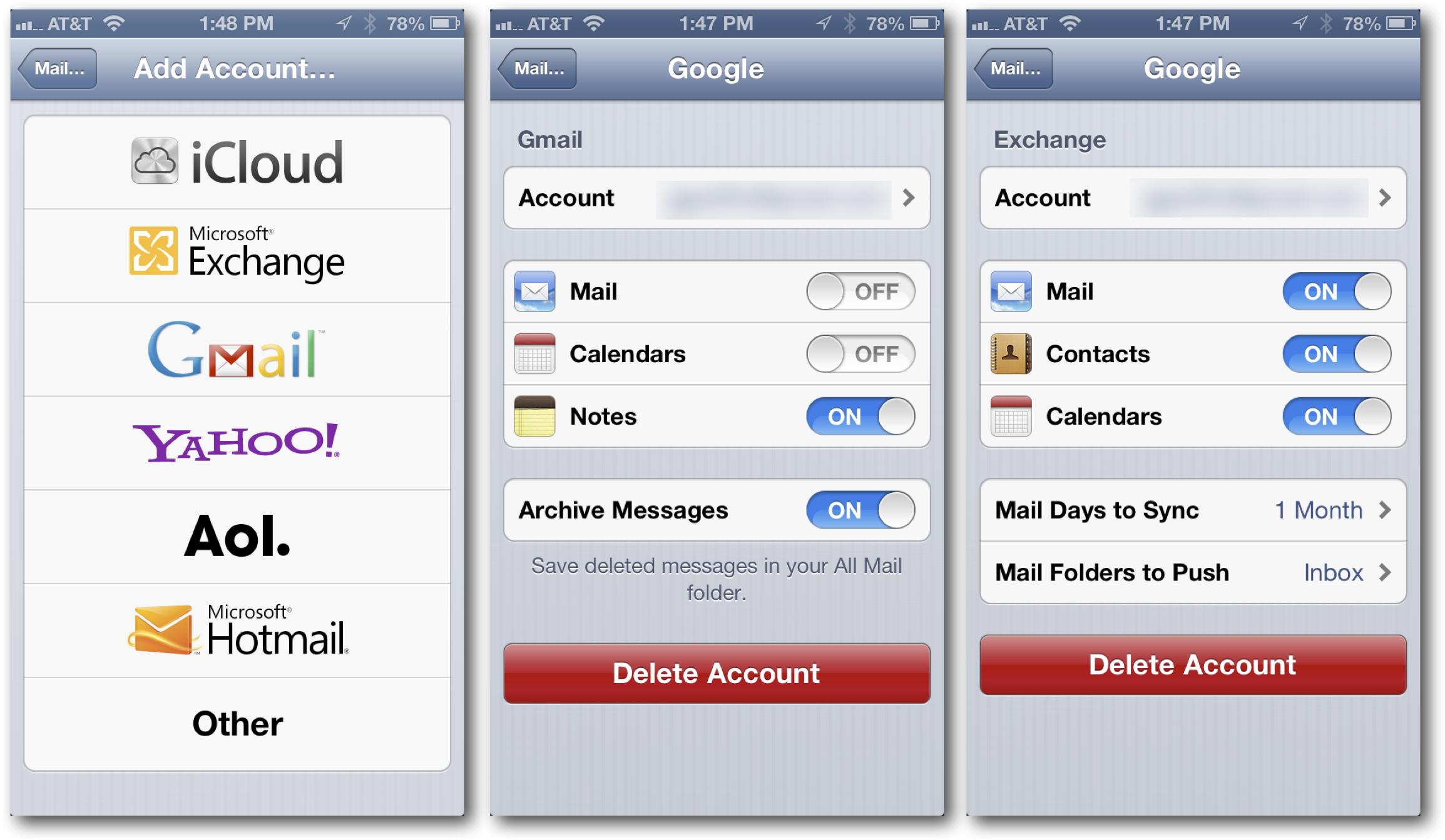 Google Mail on iOS