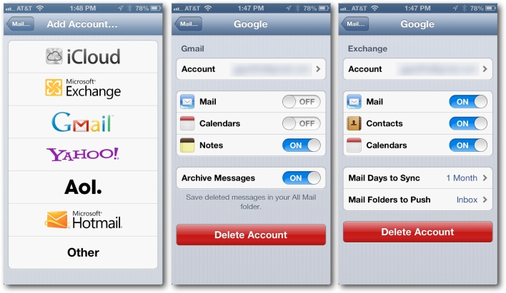 Google Mail on iOS