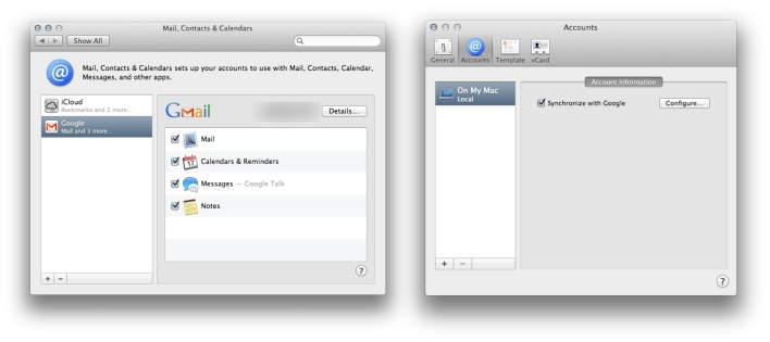 Google Mail on OS X