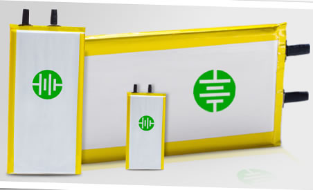 Leyden Energy's lithium ion batteries, image courtesy of Leyden Energy.
