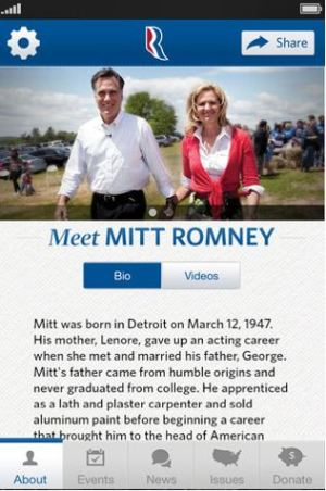 mitt romney iphone app