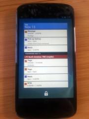 Nexus 4 lock widget