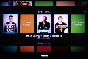Boxee TV grid guide