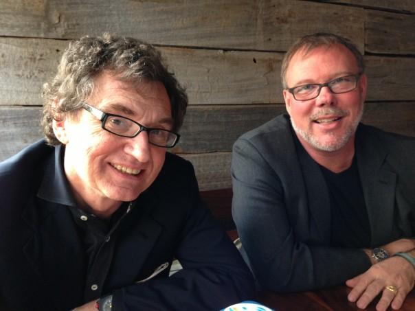 Walter de Brouwer, founder (left) with Dr. Alan Greene, chief medical officer of Scanadu.