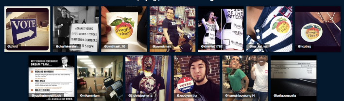 Electiongrams screen shots