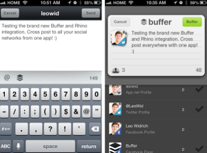 Buffer Twitter scheduling screenshot