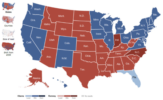 new york times electoral map 2012
