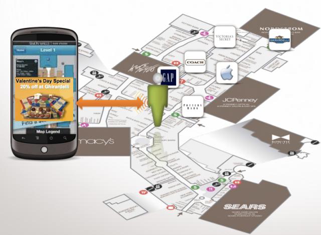 Qualcomm IZat indoor mapping mall