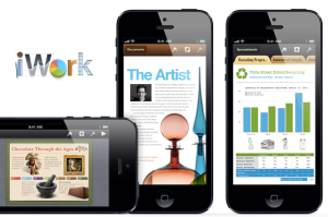 iWork apps on iPhone 5