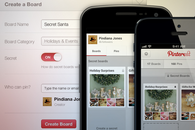 Pinterest secret boards screenshots and phones