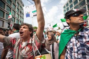 Syria protesters in Geneva