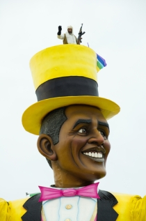 Obama puppet, election satire