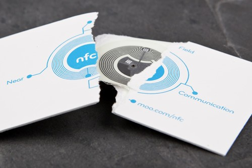Moo NFC business card