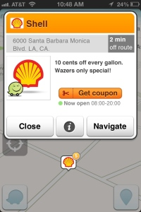 Waze, location-based ads