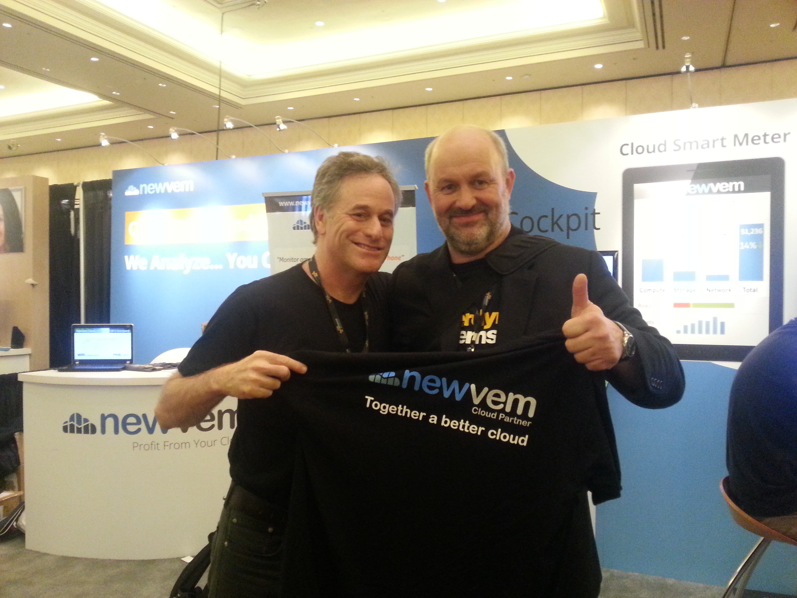 Newvem CEO Zev Laderman (left)  with Amazon CTO Werner Vogels
