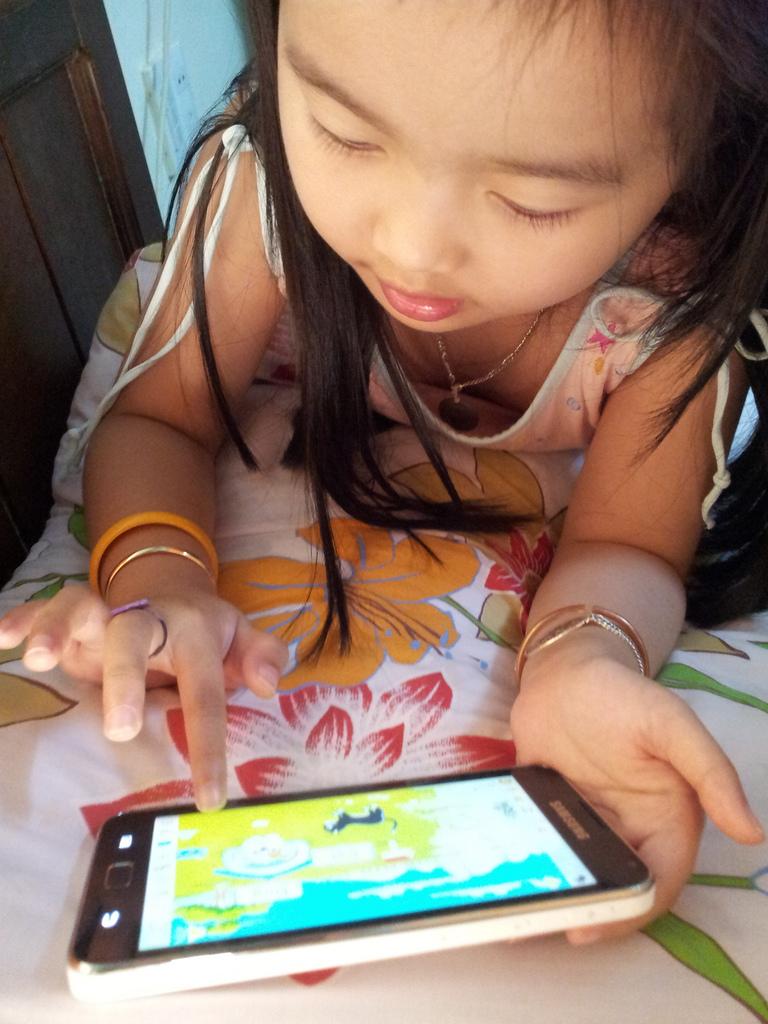 smartphone, children