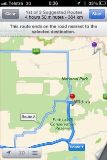 Australia natpark Apple Maps