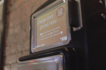 brightbox phone charging kiosk screen
