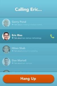 Calling Screen screenshot Clarity advisors