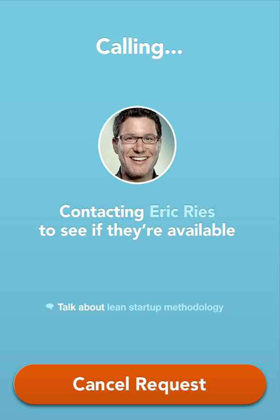 Calling Screen screenshot Clarity Eric Ries advisor