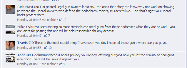 Facebook gun comments