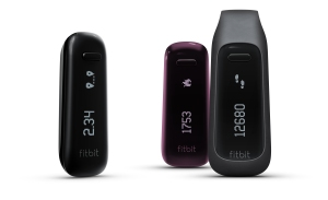 Fitbit One black burgundy side view