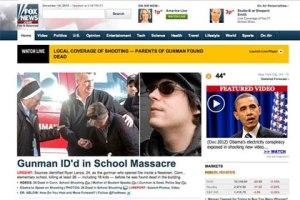 Fox News reports wrong gunman at Sandy Hook school shooting