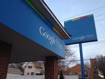 Google Fiber signs