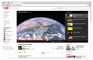 YouTube's new video play page.