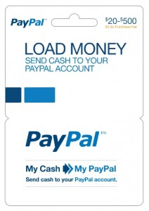 PayPal, cash card
