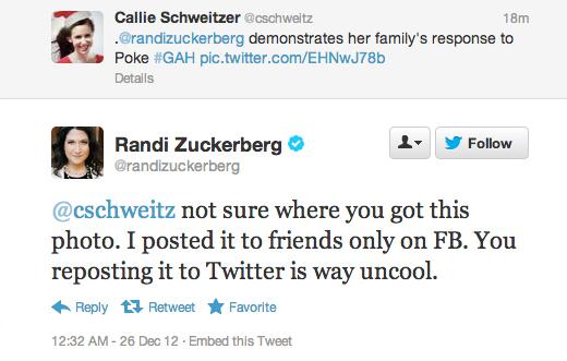 Randi Zuckerberg tweet