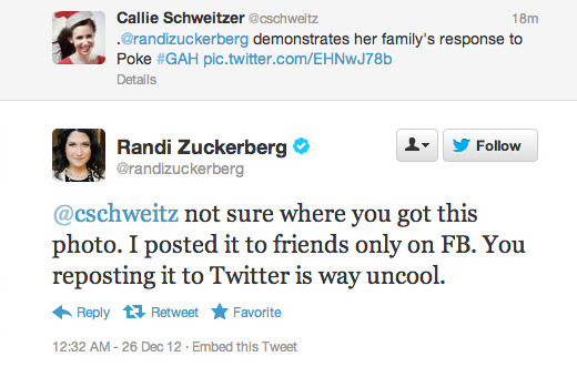 Randi Zuckerberg tweet