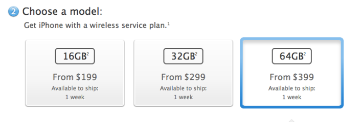 iPhone 5 ship times