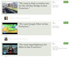 Neighborland screenshot local civic recommendations