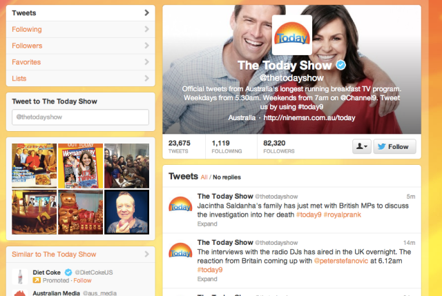 Twitter The Today Show screenshot header profile picture