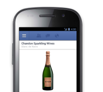 Facebook Gifts wine addition screenshot phone