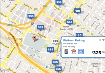 Park Whiz Superbowl parking map