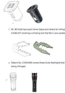 Design patents screenshot via PatentlyO