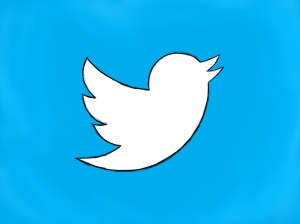 twitter bird tweets logo drawing