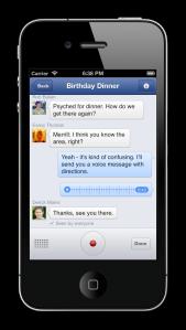 Facebook audio messenger app