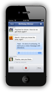 Facebook audio messenger app