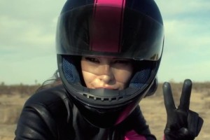 T-Mobile motorcycle girl