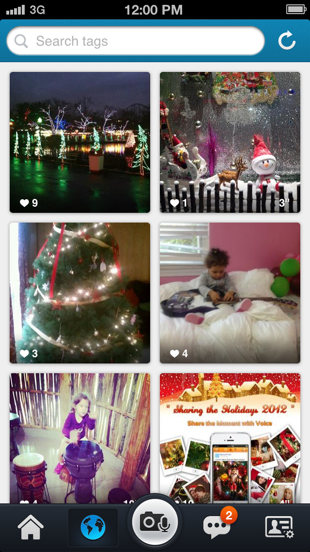 Digisocial discover audio photo clips page