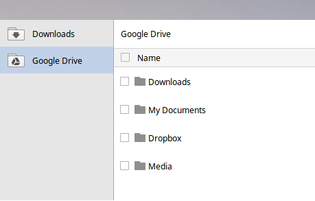 Dropbox in Chrome OS