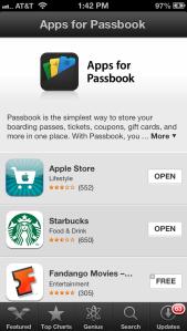 Passbook apps iOS 6.1