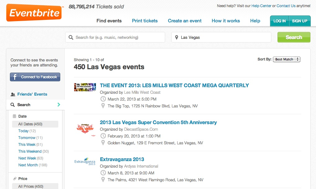 I'm not a member, so Eventbrite can only assume I want local events