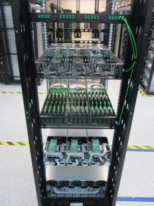 Facebook's Open Compute technologies on a rack.