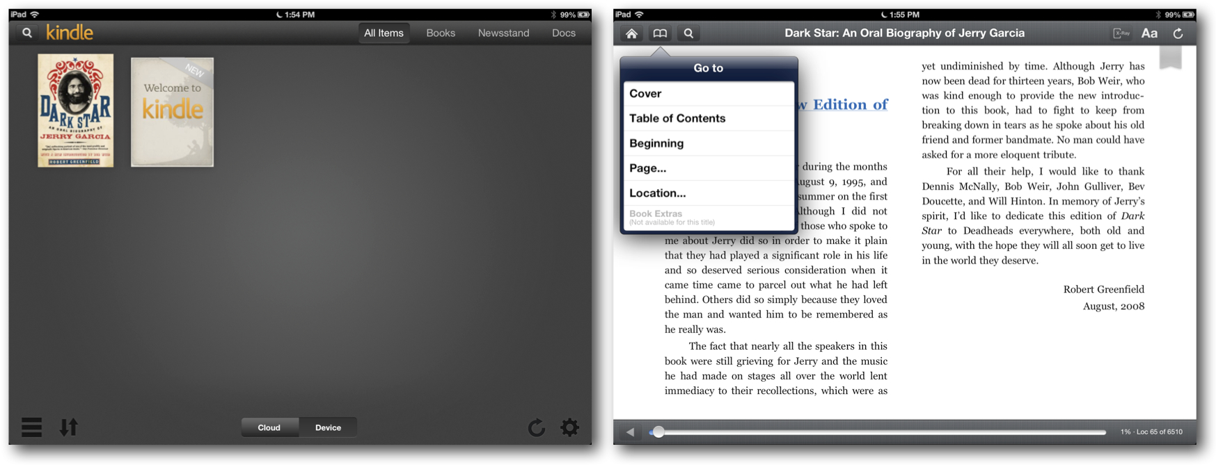 Reading the eBook