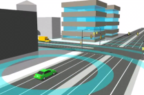 "Vehicle networking technologies developed by Cohda Wireless would let cars ""see"" around corners. (Source: Cohda)"